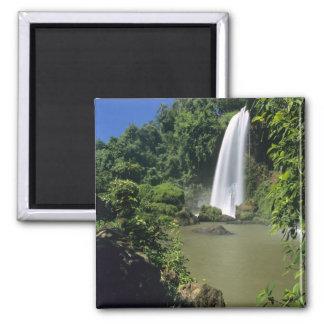 Argentina; Igwazu; Igwazu Falls. Salto Dos 2 Inch Square Magnet
