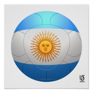 Argentina  - La Albiceleste Football Poster