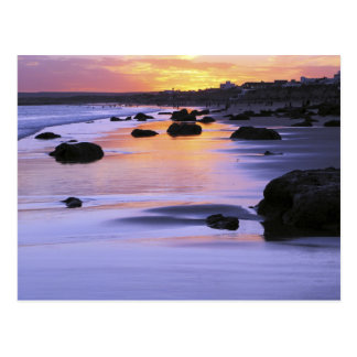 Argentina, Las Grutas. The beach at sunset. Postcard