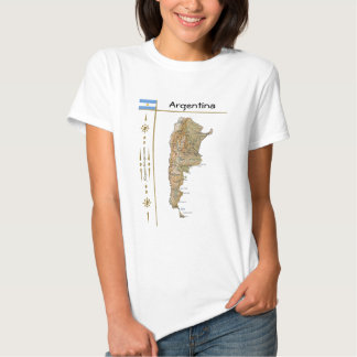 Argentina Map + Flag + Title T-Shirt