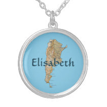 Argentina Map   Name Necklace