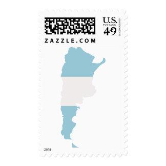 Argentina map postage stamp