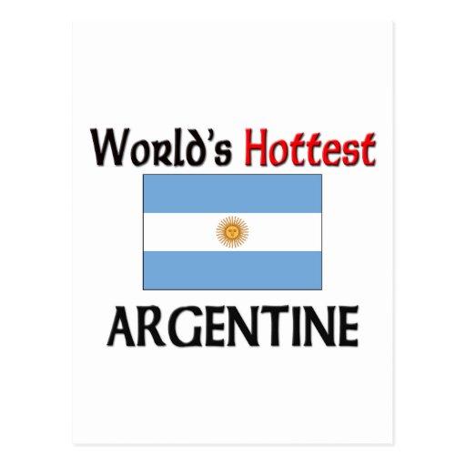 Argentina más caliente del mundo tarjeta postal