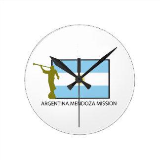ARGENTINA MENDOZA MISSION LDS ROUND WALL CLOCKS