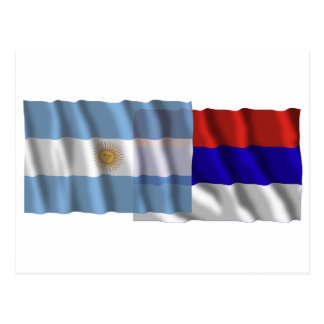 Argentina Misiones waving flags Post Cards