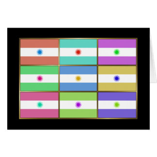 Argentina Multihue Flags Greeting Card