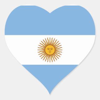 Argentina National Flag Heart Sticker