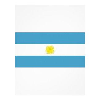 Argentina National Flag Letterhead