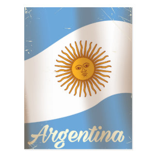 Argentina National flag vacation poster Postcard