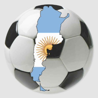Argentina national team classic round sticker