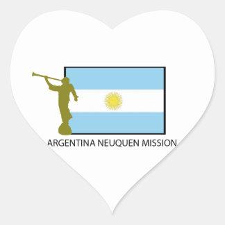 ARGENTINA NEUQUEN MISSION LDS HEART STICKER