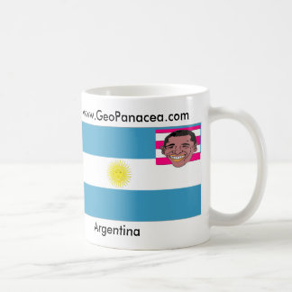 Argentina, obama head, Argentina, www.GeoPanace... Classic White Coffee Mug