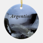 Argentina Double-Sided Ceramic Round Christmas Ornament