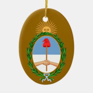 ARGENTINA*- ornamento de encargo del navidad Adorno Navideño Ovalado De Cerámica