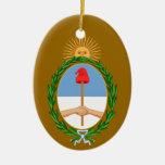 ARGENTINA*- ornamento de encargo del navidad Adorno Ovalado De Cerámica