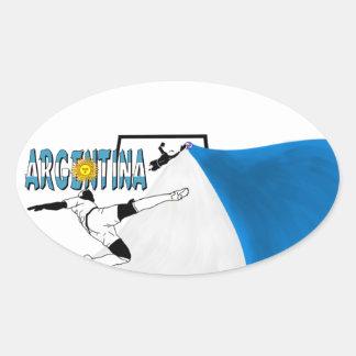 Argentina Oval Sticker