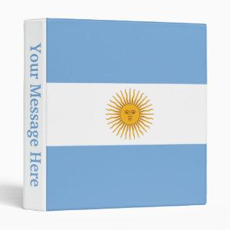 Argentina Plain Flag Binder