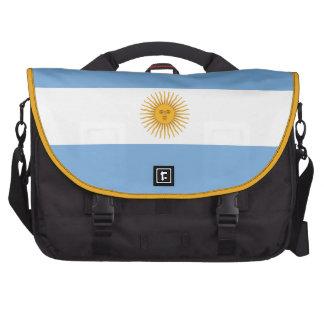 Argentina Plain Flag Bags For Laptop