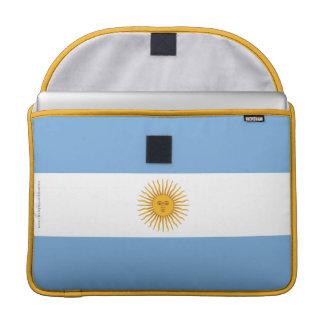 Argentina Plain Flag Sleeves For MacBook Pro
