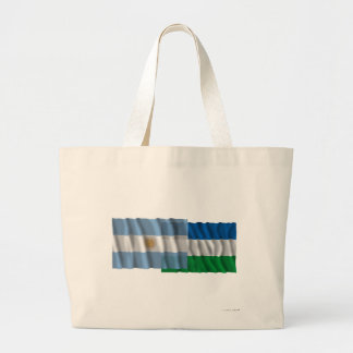 Argentina & Río Negro waving flags Canvas Bags