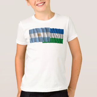 Argentina & Río Negro waving flags T-Shirt