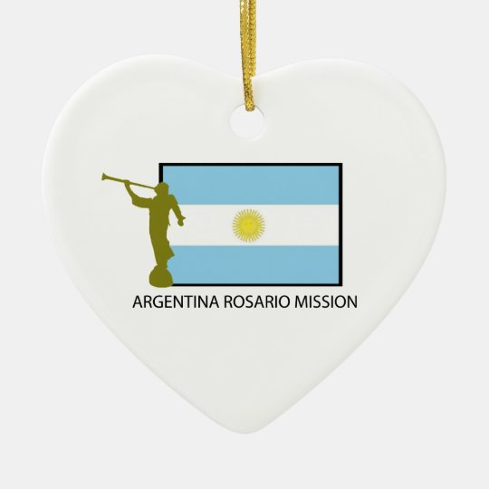 ARGENTINA ROSARIO MISSION LDS CERAMIC ORNAMENT