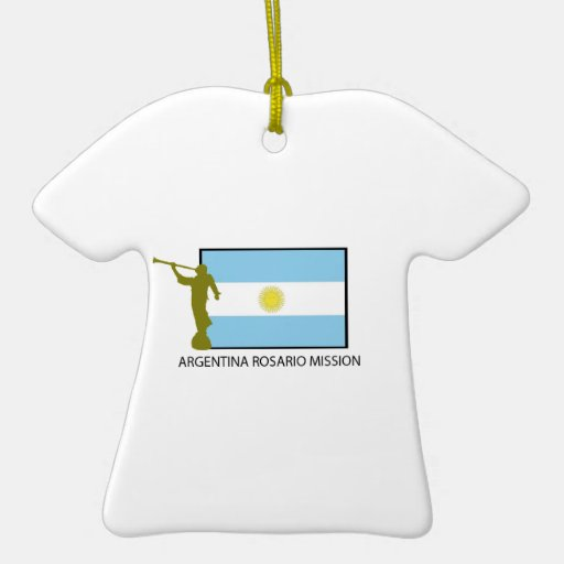 ARGENTINA ROSARIO MISSION LDS Double-Sided T-Shirt CERAMIC CHRISTMAS ORNAMENT