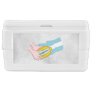 Argentina Rugby Team Supporters Flag With Ball Chest Cooler