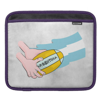 Argentina Rugby Team Supporters Flag With Ball iPad Sleeve