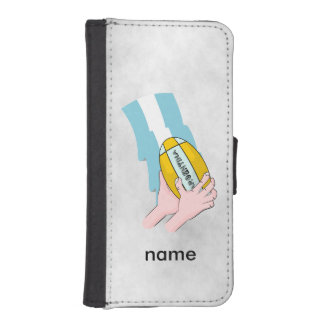 Argentina Rugby Team Supporters Flag With Ball iPhone SE/5/5s Wallet Case