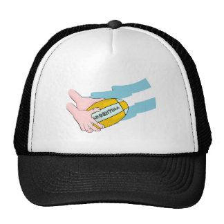 Argentina Rugby Team Supporters Flag With Ball Trucker Hat