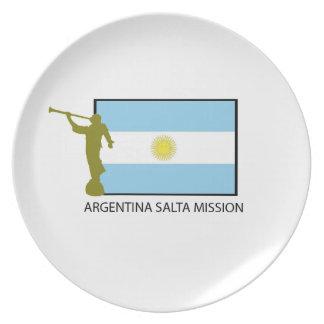 ARGENTINA SALTA MISSION LDS MELAMINE PLATE