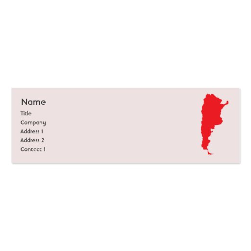 Argentina - Skinny Business Cards
