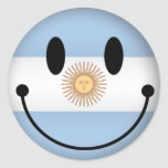 Argentina Smiley Stickers