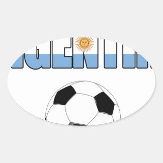 Argentina Soccer 0106 Oval Sticker