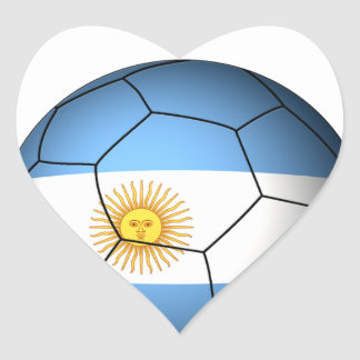 Argentina Soccer 0528 Heart Sticker