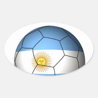 Argentina Soccer 0528 Oval Sticker