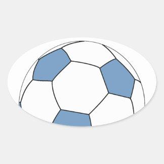 Argentina Soccer 0744 Oval Sticker