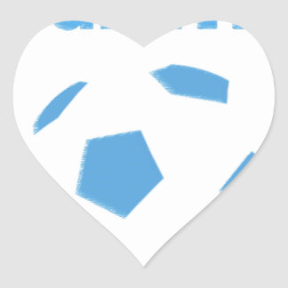 Argentina Soccer 0936 Heart Sticker