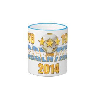 Argentina soccer 2014 world champions mug