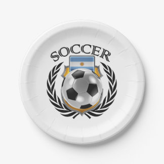 Argentina Soccer 2016 Fan Gear Paper Plate