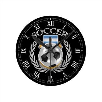 Argentina Soccer 2016 Fan Gear Round Clock