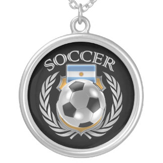 Argentina Soccer 2016 Fan Gear Silver Plated Necklace