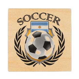 Argentina Soccer 2016 Fan Gear Wood Coaster