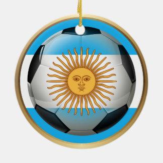 Argentina Soccer Ball Ceramic Ornament
