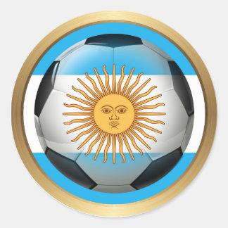 Argentina Soccer Ball Classic Round Sticker