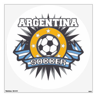 Argentina Soccer Burst Wall Decal