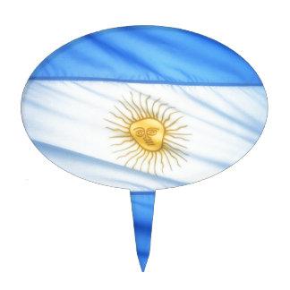 Argentina soccer cake topper