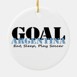 Argentina Soccer Ceramic Ornament