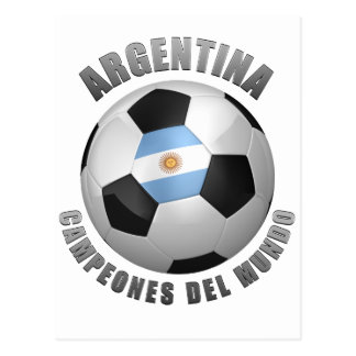 ARGENTINA SOCCER CHAMPIONS POSTCARD